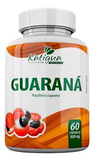 Guaraná 500mg 60 Cápsulas - Katiguá + Brinde