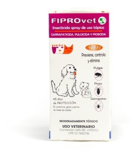 Fiprovet Reevex Spray 50ml Garrapaticida Higiene Perros
