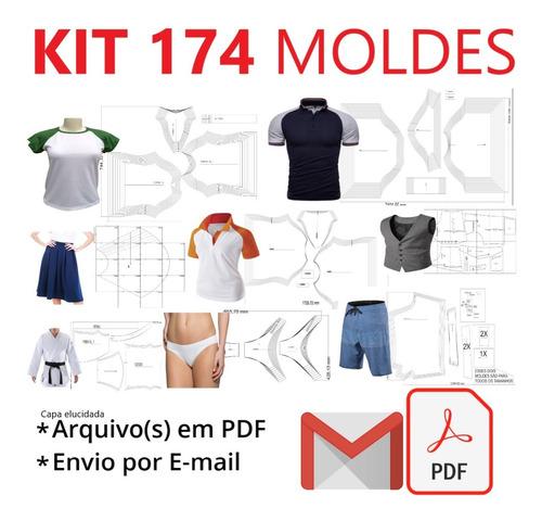 Kit 174 Moldes Diversos Mas. Fem. Inf. - Todos Os Tamanhos
