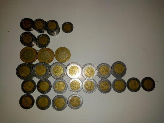 Lote De Monedas Nuevos Pesos N$1,n$2,n$5, N$10.,$10 Del 2001