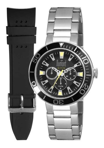 Relógio Dumont Masculino Ref: Du6p29abw/3p Troca Pulseira