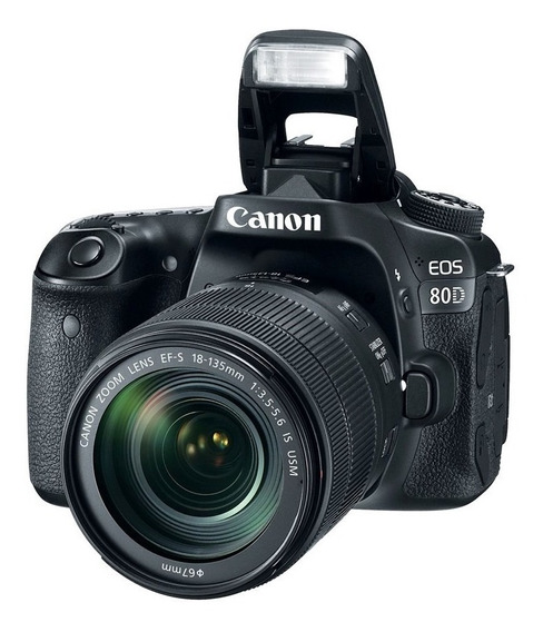 Camara Canon Eos 80d Kit C/18-55mm Is-242 Mpix-full Hd-lcd 3