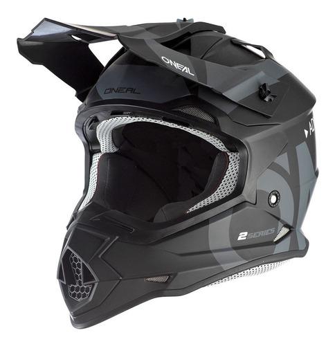 Imagen 1 de 7 de Casco Oneal Motocross Enduro 2 Series Slick Negro/ Gris