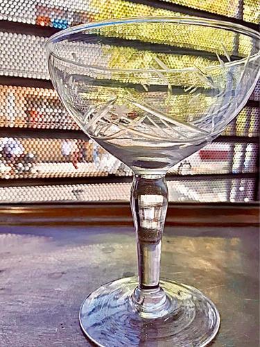 Juego De 11 Copas Sidra Champagne Talladas Antiguas