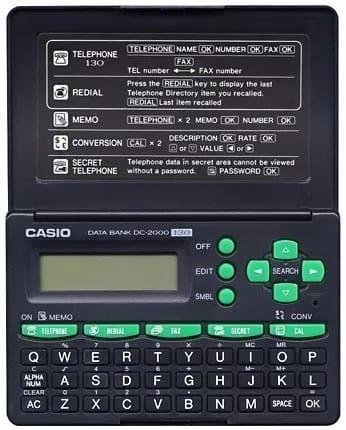 Agenda Calculadora Casio Modelo Data Bank Dc-2000 130