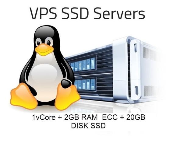 Servidor Vps Ssd 20gb 2gb Ram Linux