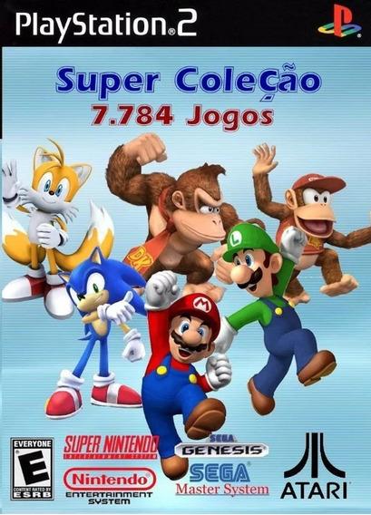 Super Coleção 7800 Jogos Nitendo, Mega Drive, Atari Para Ps2