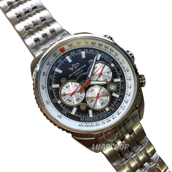 Relogio Vip Eurostar Cronografo Luxo Original