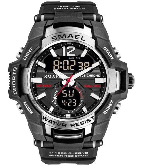 Relógio Desportivos Dual Time Quartz