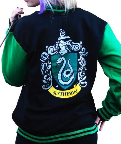 Moletom College Harry Potter Sonserina Hogwarts + Brinde