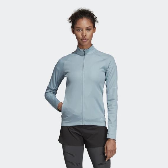 Chamarra adidas Phx Mujer Running Azul