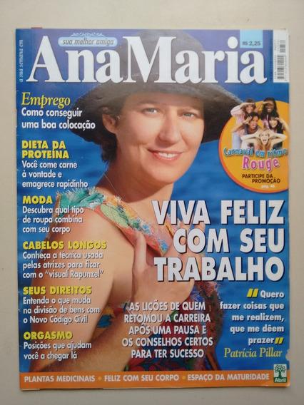 Revista Ana Maria 332 Patricia Pillar Dieta Moda Beleza B453
