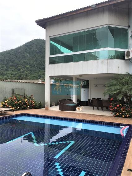 Sobrado Contemporâneo, Com 4 Dormitórios Sendo 3 Suítes E 2 Com Closet, 3 Vagas, 2 Piscinas, Quisque C/ Área Gourmet - Forte - Praia Grande - Rt4f49s - Rt4f49s - 34257743
