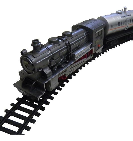 Ferrorama Trem Locomotiva Brinquedo Crianca Luz 15 Pecas
