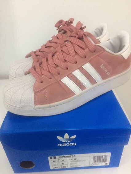 Zapatillas adidas Superstar Rosas Gamuza Nro 39 Impecables!
