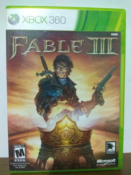 Fable 3 Midia Fisica Xbox 360 Original