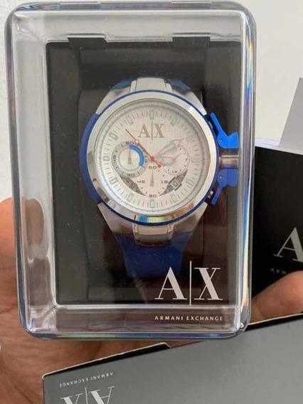 Relógio Armani Exchange 1041 Azul | 1 Mês De Uso !!
