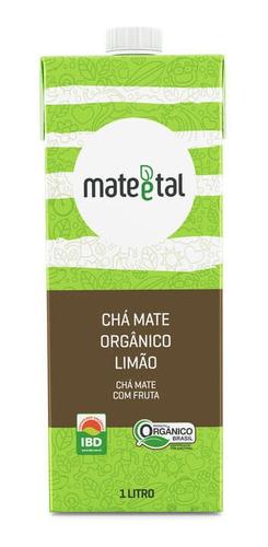Chá Mate Orgânico Sabor Limão 1 Litro  (01 Unidade)