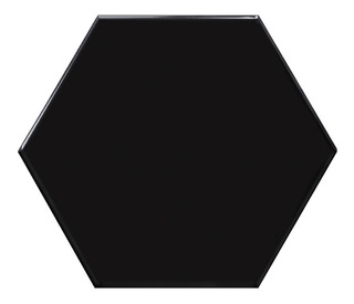Hexagono Negro Mate Porcelanato Acuarela 17,5x20 Piso-pared
