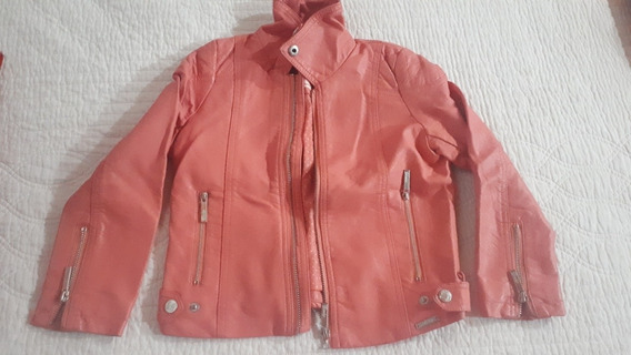 Campera Cuero Cheeky Coral T6 Impecable