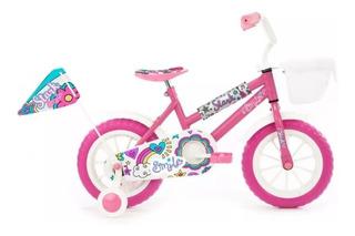 Bicicleta Rodado 12 Stark Niña Rueditas - Smile