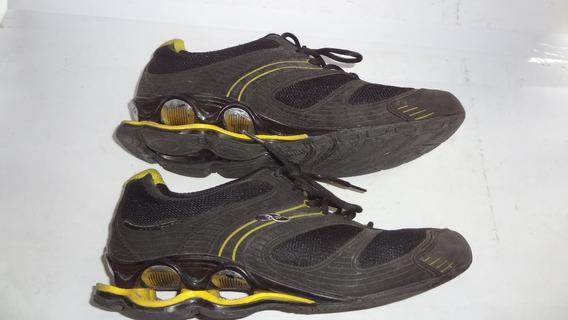 Tenis Olympikus Esportivo Preto Com Amarelo Tamanho 40