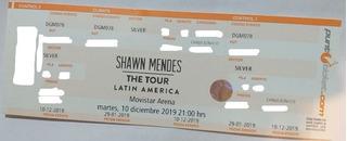 Entradas Shawn Mendes Función 10/12 Silver Con Mercado Pago