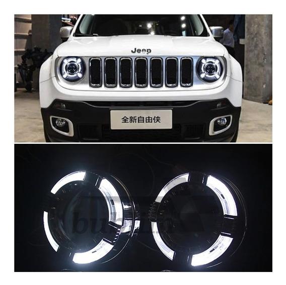 Projetor Com Drl Modelo Jeep Renegade Farol Led Par