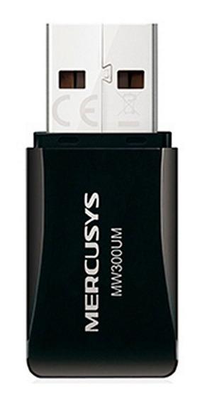 Adaptador De Red Mercusys Usb Inalambrico 300 Mbit/s Mw300um
