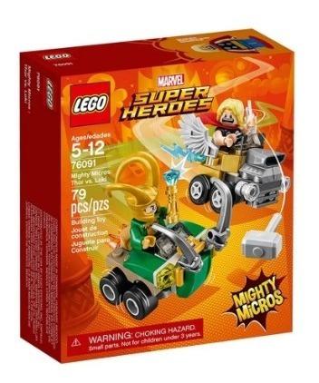 Mighty Micro Lego Marvel Thor Vs Loki 76091