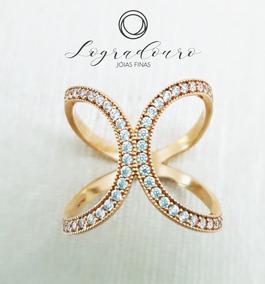 Anel Feminino Butterfly Em Ouro 18k 4,05g