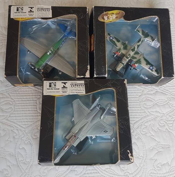 Kit Com 3 Miniaturas Maisto Air Force - Raridade