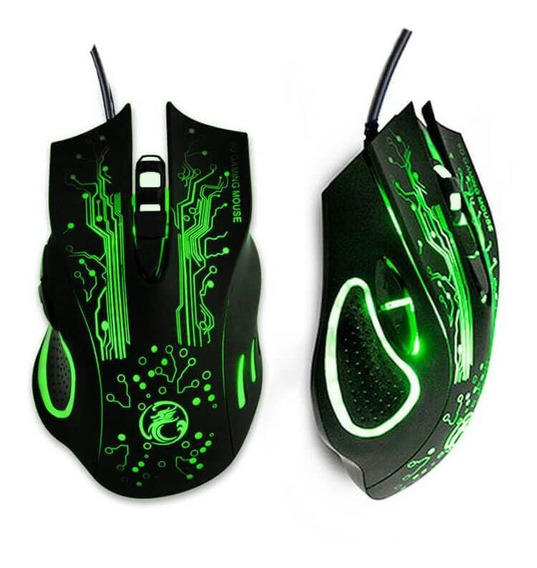 Mouse Gamer Usb Led 2400 Dpi 6 Botões P/ Pc E Note Oferta