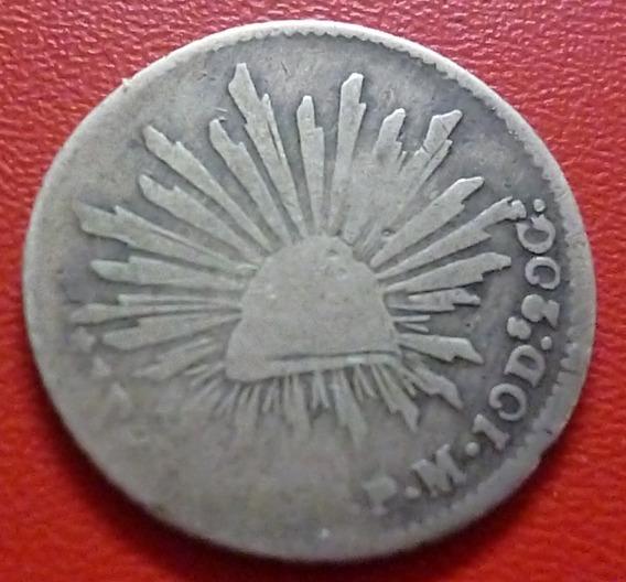 Mexico Moneda De Plata 1 Real 1876 P M