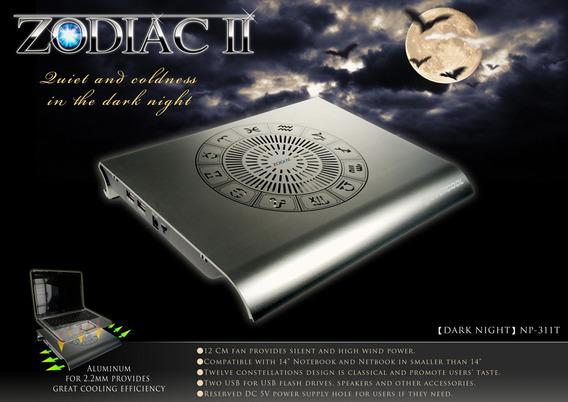 Base Para Notebook Evercool Zodiac 2 Em Aluminio