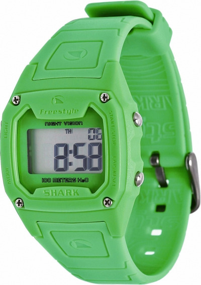 Relógio Fs81263 Digital Shark Classic Solid Green Freestyle