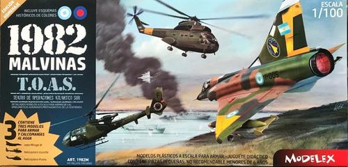 Aviones Para Armar Malvinas 1982 Escala 1/100 + Pegamento