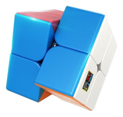 Imagen 1 de 5 de Cubo Rubik 2x2 Moyu Stickerless Lubricado Profesional