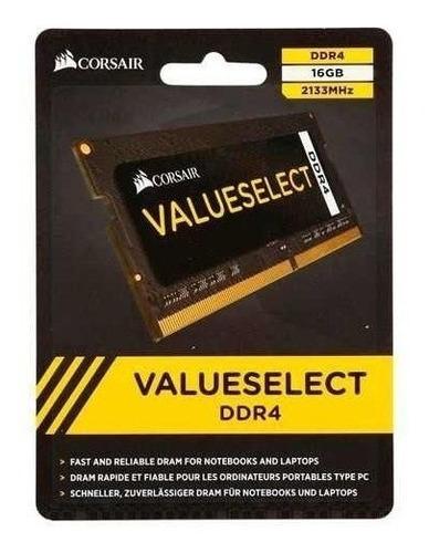 Imagem 1 de 2 de Memória Para Note 16gb Ddr4 2133mhz Corsair Value Dell Hp