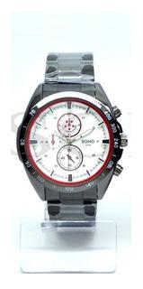 Reloj Analogo Hombre Soho Modelo Ch048 Resistente Al Agua