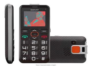 Celular Semp Go! 1e Dualchip Pto Tela 1.8 Radio Fm P/ Idoso