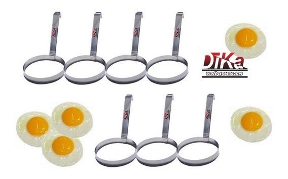Modelador De Ovos Redondo Aço Inox Profissional Kit Com 7