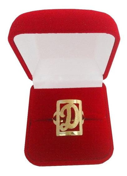 Anel De Letra 3 Gramas Ouro 18kl 750