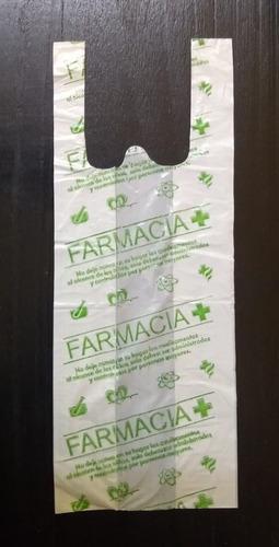Imagen 1 de 2 de Bolsas Para Farmacia 30 X 40 Cm Camiseta Genericas Impresas
