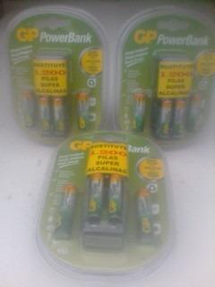 Cargador De Bateria Recargable Aa-aaa Gp Powerbank