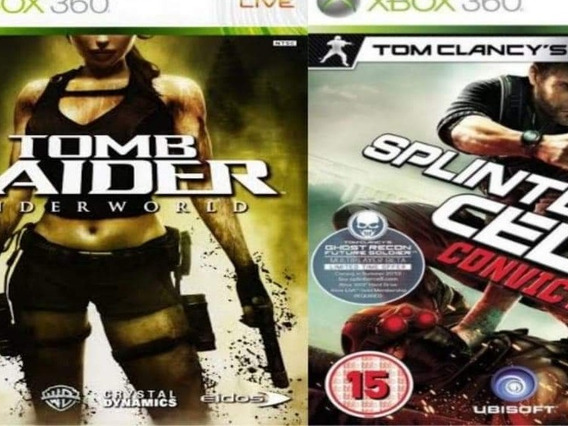 Tomb Raider+ Splinter Cell Midia Digital Xbox 360