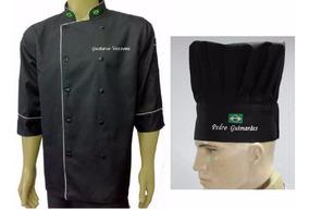 Kit Doma + Chapéu Chef C/bordado Gastronomia Bordado