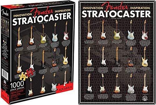 Fender Stratocaster Rompecabezas 1000 Piezas Aquarius Puzzle