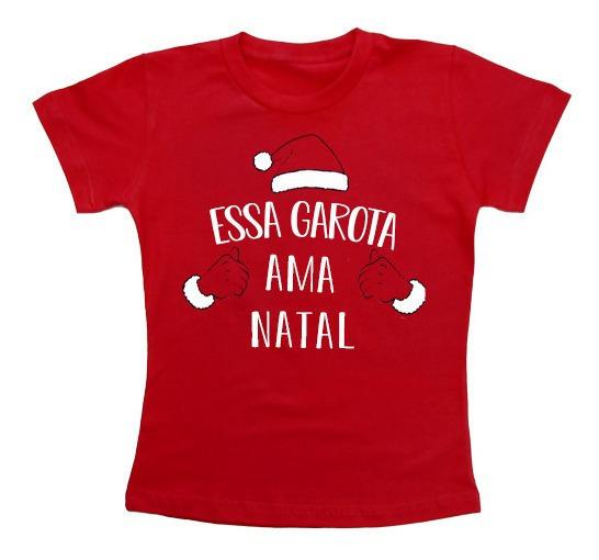 Camiseta Natal Em Família Papai Noel 3 Unid