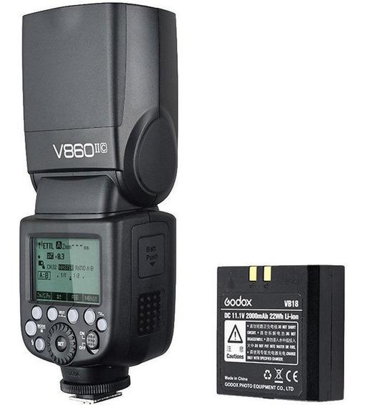 Flash Godox V860ii (s)ttl C/ Bateria E Carregador Para Sony